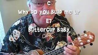 "BUILD ME UP BUTTERCUP for the UKULELE - UKULELE LESSON / TUTORIAL by ""UKULELE MIKE"""