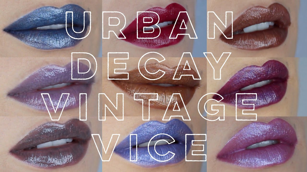 5f0ae1a80a37 Urban Decay Holiday | Vice Lipstick Vintage Collection | Swatch & Review
