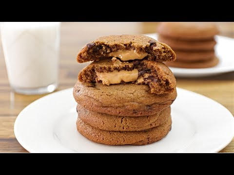 Peanut Butter Stuffed Chocolate Chip Cookies Recipe