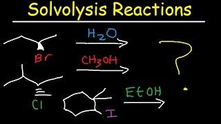 solvolysis reaction mechanism sn1 stereochemistry racemic mixture organic chemistry