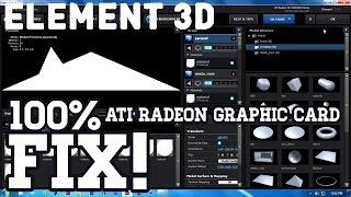 element 3d how to fix the opengl problem with ati radeon hd graphic cards 100 working easy way