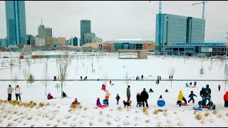 Snow Day at Scissortail Park