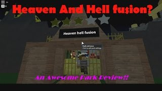 Roblox Theme Park Tycoon | Park Review | HEAVEN AND HELL!?