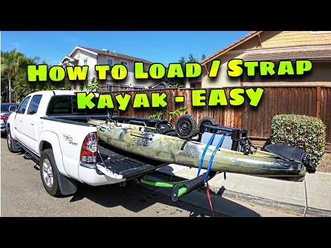 How To LOAD And STRAP Kayak!! - On A Short Bed Truck With (Boonedox T-Bone Bed Extender) Ep.#9