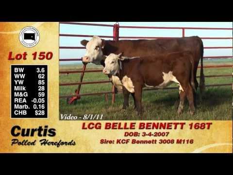 Lot 150: LCG BELLE BENNETT 168T