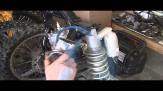 YZ125 Part 25: 2 Stroke Installing Rear Subframe & Carb