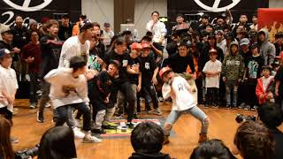 MAITO vs Micro Twiggz|KIDS TOURNAMENT BEST 8 ①|KING OF BUCK 8|2017.12.10