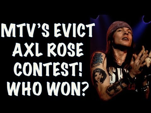 Guns N' Roses  True Story Behind the Evict Axl Rose Contest MTV! Contest Winner!