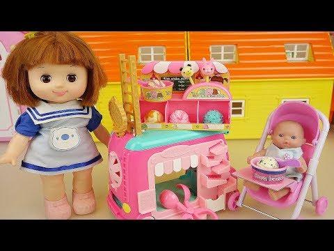 Baby doll Ice Cream car toys play