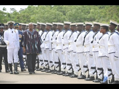 President Mahama bids farewell to the Nation security