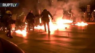 Molotov cocktails, firecrackers hurled at police at march over teen's death in Athens