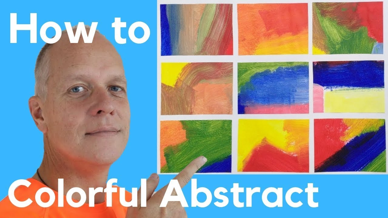 Abstract Acrylic Painting Ideas For Beginners Colorful Abstract Art Paintings Youtube