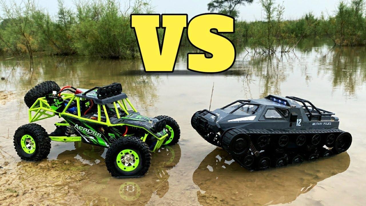 Wltoys 12427 vs SG 1203 RC Tank | Wltoys 12427 Water Test | RC Cars