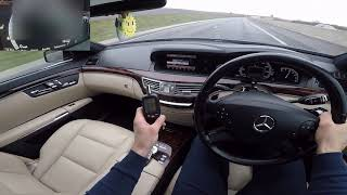 2011 Mercedes Benz S350 CDI Acceleration Driving 0-60 0-100 Car review