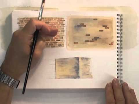 Watercolour Buildings Lesson - Bricks Old & New