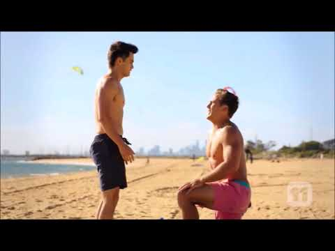 David and Aaron get engaged and kiss scene ep 7845