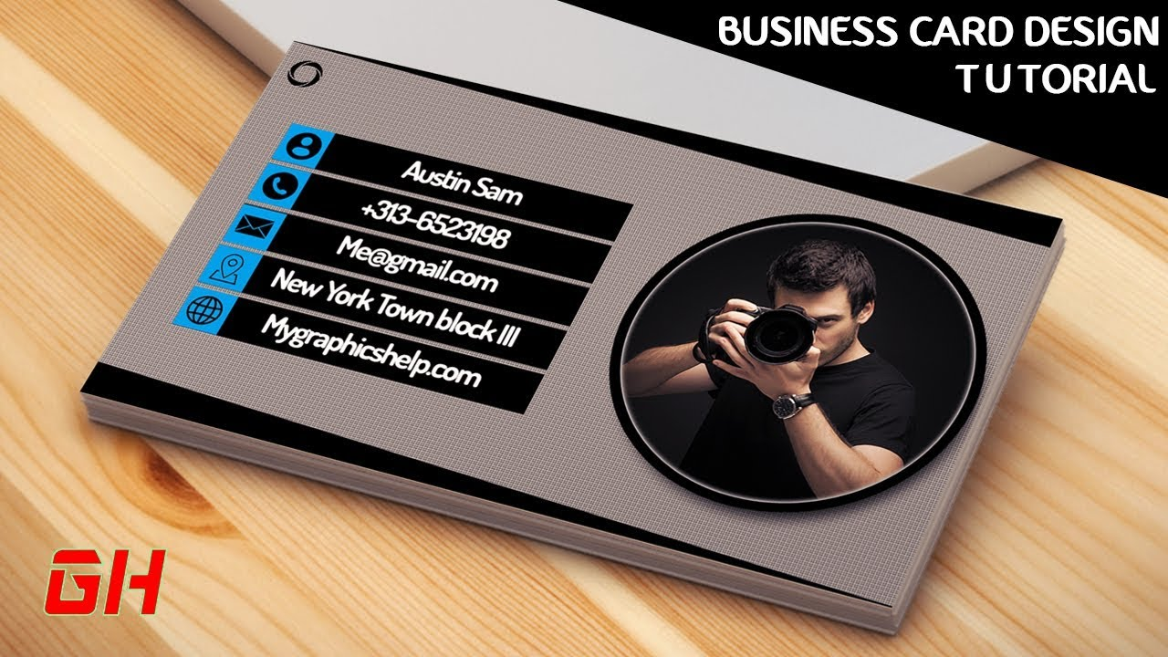 card business photoshop ps