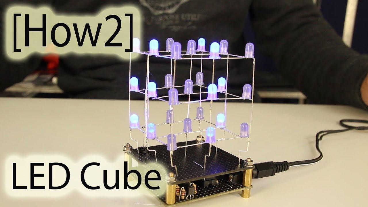 how2  led cube 3x3x3