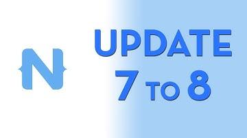 Update NativeScript 7 app to 8.0