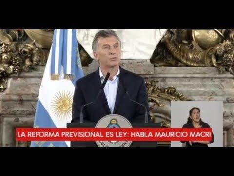 Conferencia de prensa de Mauricio Macri por la aprobación de la Reforma Previsional