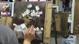 유화 정물화 채색과정 영상 아름다운화실