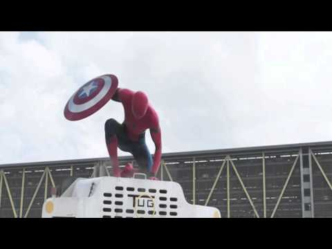 First Official Spiderman Scene Captain America Civil War 2016 Leaked