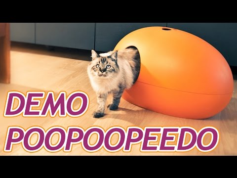 d mo maison de toilette pour chat poopoopeedo par sin design youtube. Black Bedroom Furniture Sets. Home Design Ideas