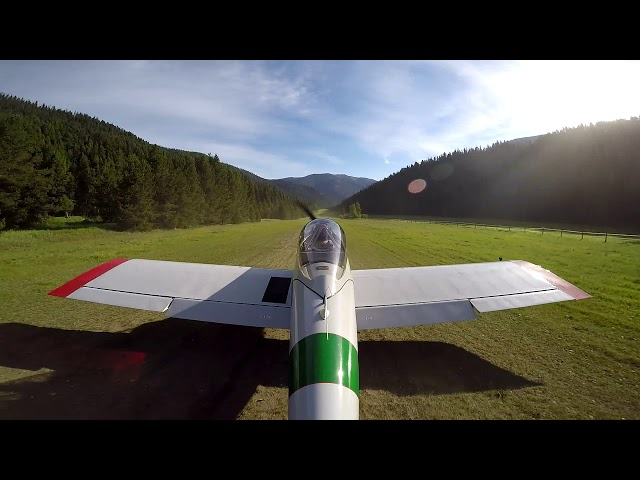 Big Creek Idaho Airstrip Takeoff