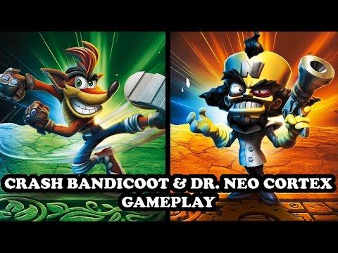 Skylanders Imaginators - Crash Bandicoot & Dr. Neo Cortex GAMEPLAY (Thumpin' Wumpa Islands Level)