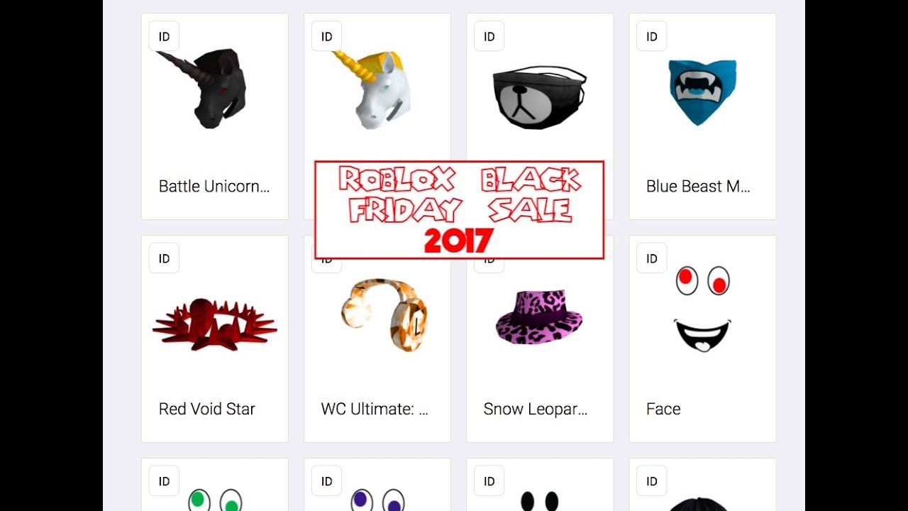 Roblox Black Friday Sale 2017 Youtube