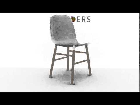 Normann Copenhagen Stoel : Normann copenhagen form chair stoel graden video u flinders