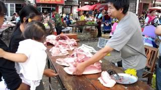 China: A Colorful Market in Yunnan (Around Dali)
