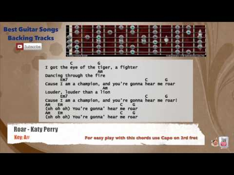 Best Songs Backing Tracks Roar Katy Perry Guitar Backing Track