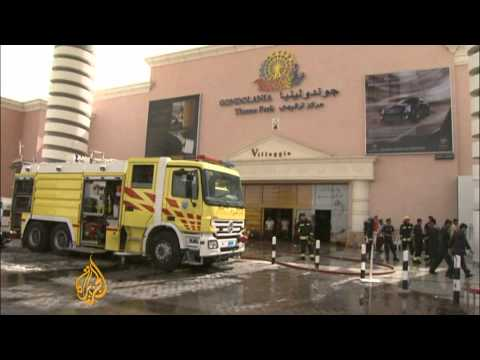Mourners gather after Qatar mall blaze