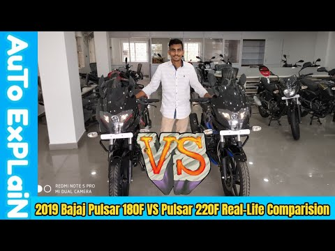 2019 Bajaj Pulsar 180f Vs Pulsar 220f Real-life Comparison - Which One is Best?
