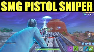 Get an Elimination with an SMG, Pistol, & a sniper Rifle Fortnite Challenges Week 3