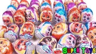 Lapusiki surprise eggs toys unboxing Kinder Surprise Лапусики или Обманусики оборотни тьфу бяка