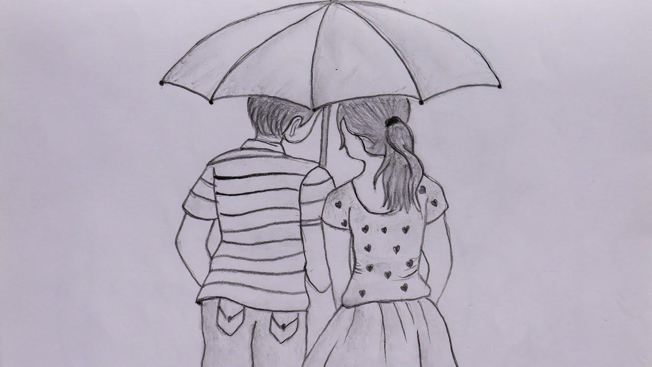 Cute Couple Pencil sketch- Torsha Art Gallery - YouTube