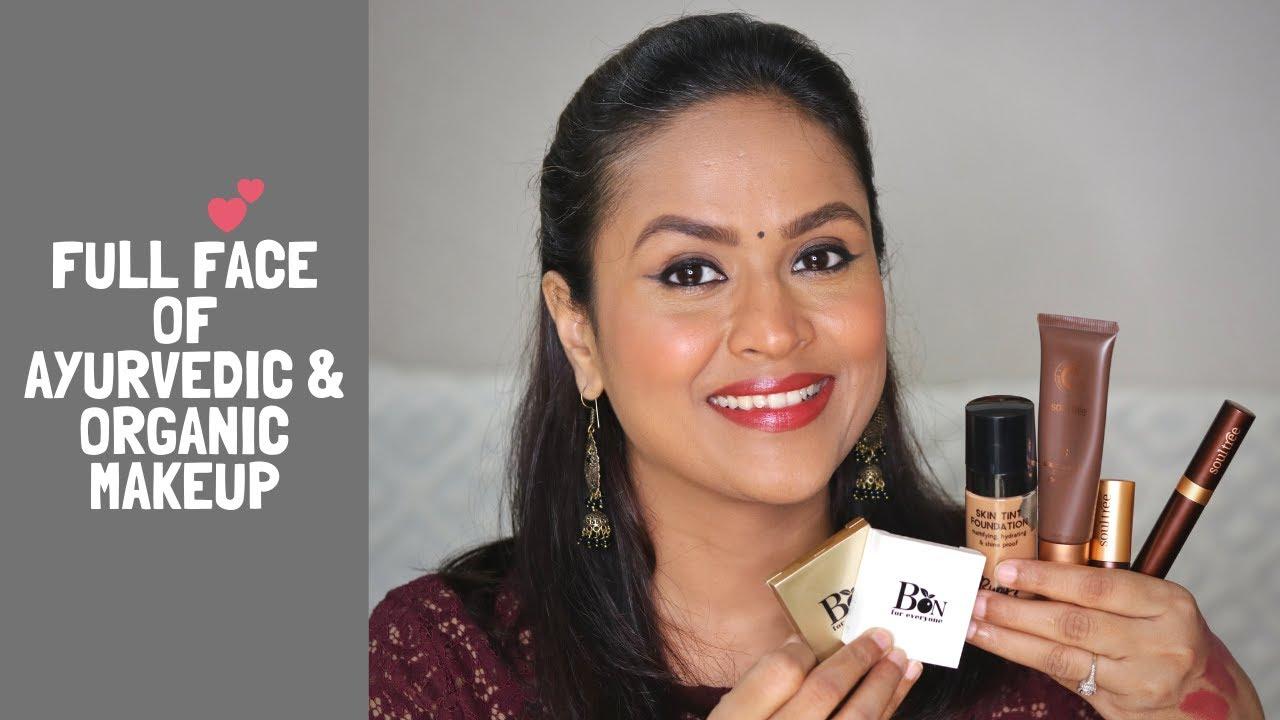 Full Face Of Ayurvedic Organic Indian Makeup Brands   Non Toxic Makeup  Products