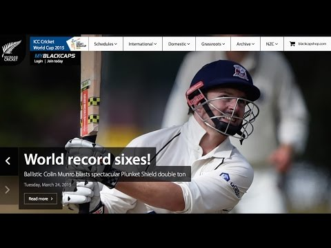 Colin Munro smashes world record 23 sixes in a first class innings