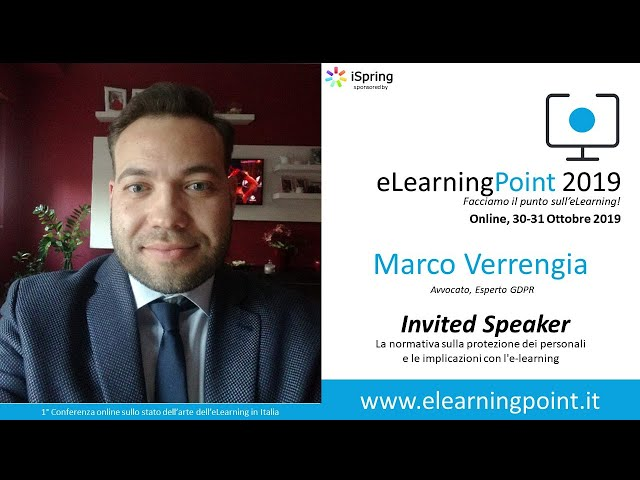 eLearningPoint 2019 - Intervento dell'Avv. Marco Verrengia