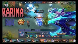 Karina Best Build Of All Time MVP guide #2 Mobile Legends Gameplay