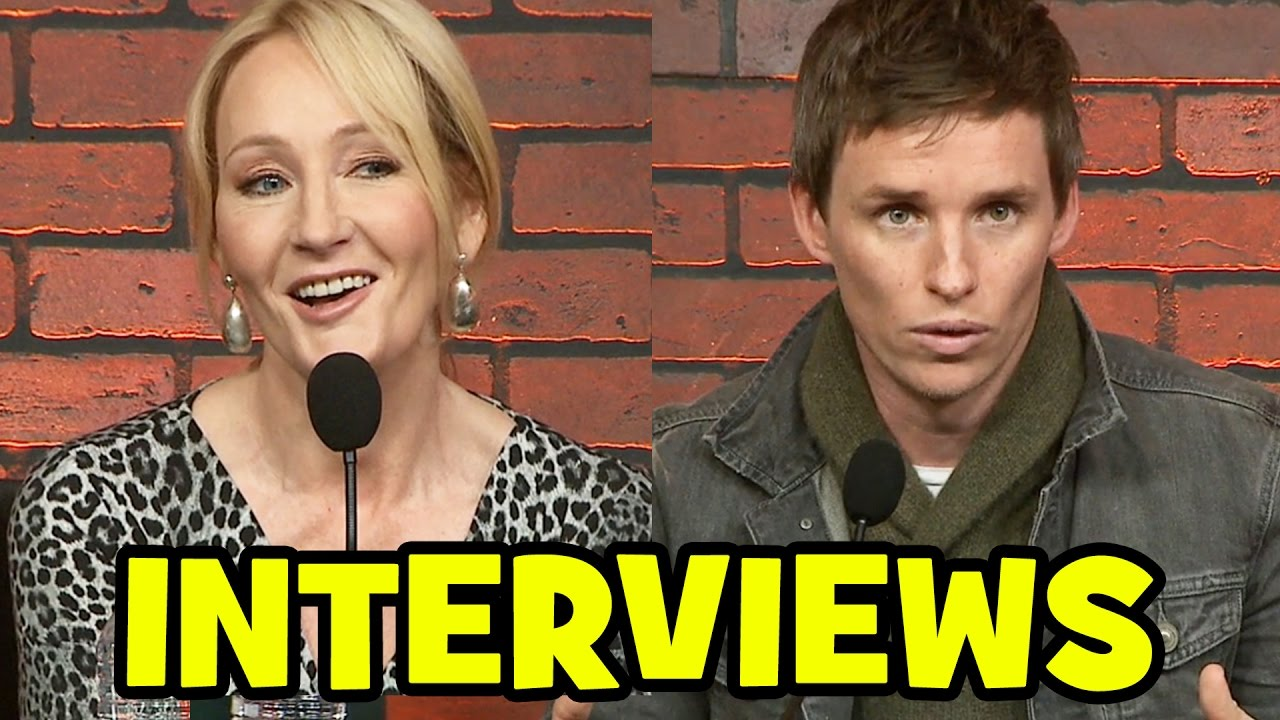 FANTASTIC BEASTS and Where To Find Them Cast Interviews - World Press Conference