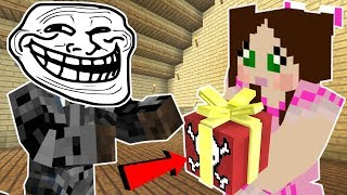 Minecraft: CHRISTMAS TROLLING JEN!!! (EXPLOSIVE PRESENTS, FALLING ICICLES!, \u0026 MORE!) Custom Command