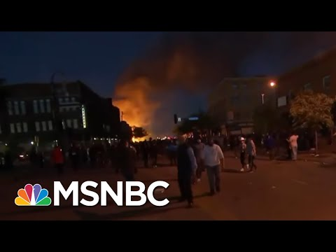 Flames And Tear Gas Break Out At Minneapolis Protest   The Last Word   MSNBC