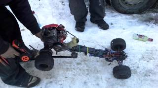 Chainsaw RC car. What not to do.