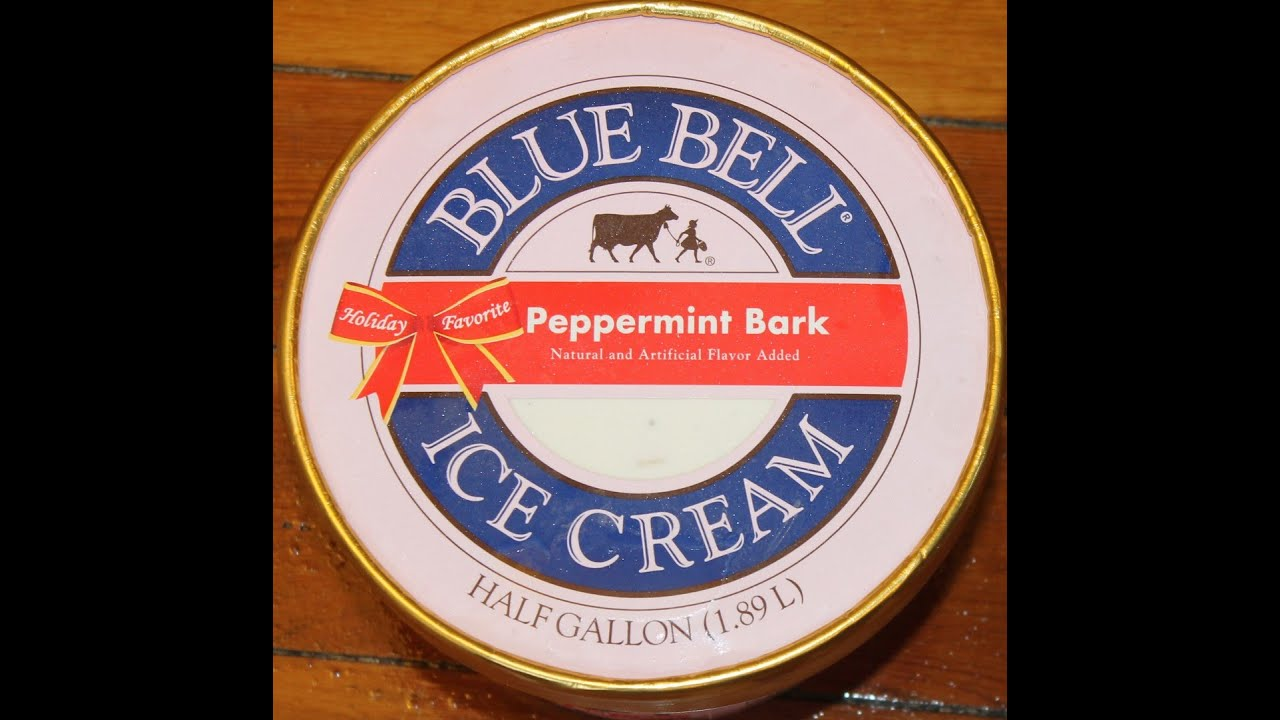 Blue Bell: Peppermint Bark Ice Cream Review - YouTube