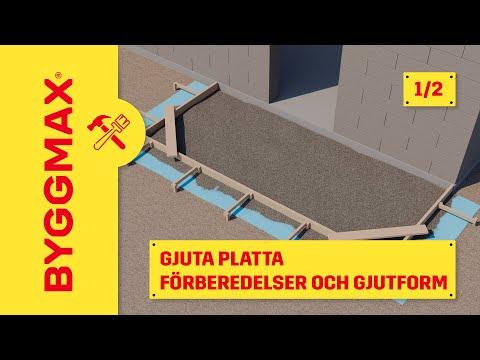 bygga form till betongplatta
