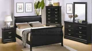 Coaster Louis Philippe Sleigh Bedroom Set In Black
