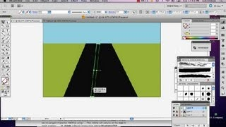 How to Build a Road in Illustrator CS5 : Adobe Illustrator